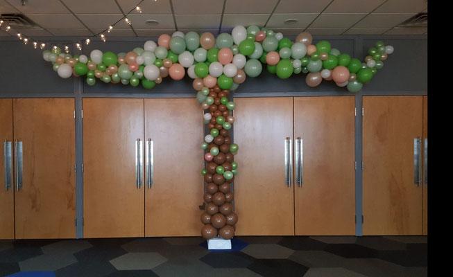 Air-filled Balloon Column Tree Over Door Artsy