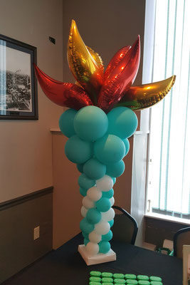 Air-Filled Balloon Sculpture Olympic Torch Flames