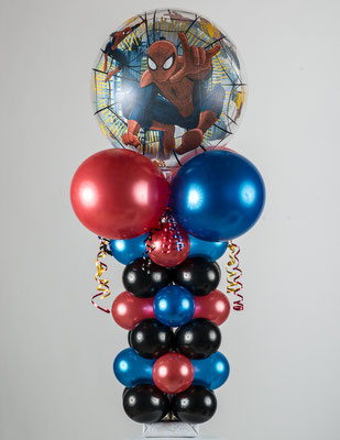 Air-Filled Balloon Column Spiderman