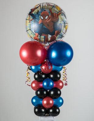 Air-Filled Balloon Column Spiderman