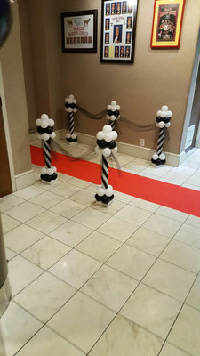 Air-Filled Balloon Runway Pole Column Formal Wedding