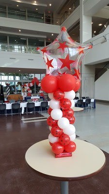 Air-Filled Balloon Centerpiece Star