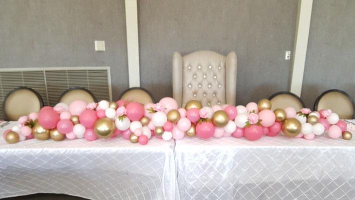 Air-Filled Balloon Organic Centerpiece Garland 8' Table