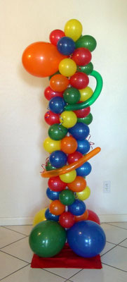 Air-Filled Balloon Column First Birthday