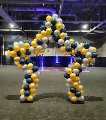 Air-Filled Balloon Star Arch Mixed Colors