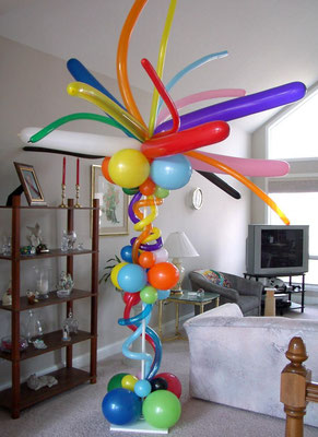 Air-Filled Balloon Crazy Column