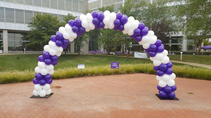 Air-Filled Balloon Aeropole Arch Purple White