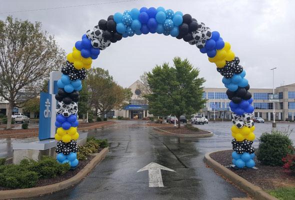 Air-Filled Balloon Aeropole Arch Blue Yellow Black