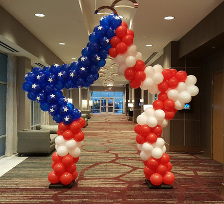 Air-Filled Balloon Star Arch Patriotic Red White Blue Stars 4th of July