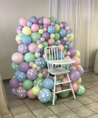 Air-filled balloon organic photo high chair pastel
