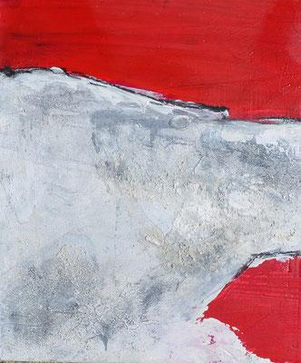 Rot auf Holz (2), ca 23x32cm, Acryl auf Holz