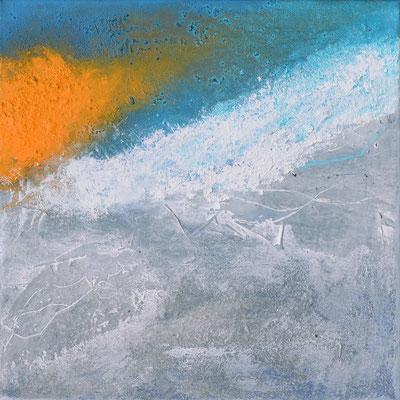 Duo (rechter Teil), 30x30cm, Acryl auf Leinwand