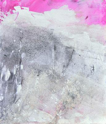 Pink auf Holz, ca 23x32cm, Acryl auf Holz