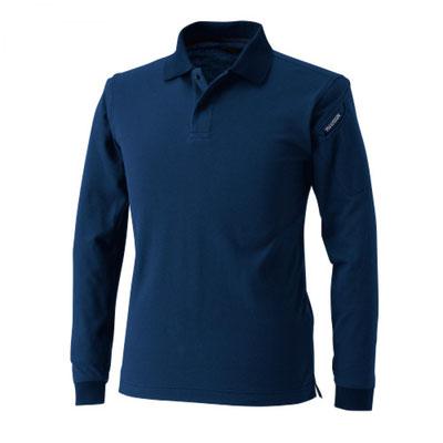 TS DESIGN~TSデザイン~4075 ロングスリーブポロシャツ 45 ネイビー