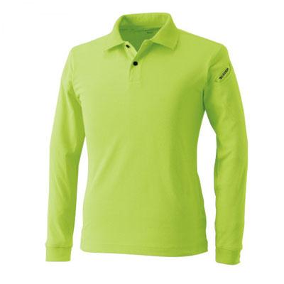 TS DESIGN~TSデザイン~4075 ロングスリーブポロシャツ 55 ライトグリーン