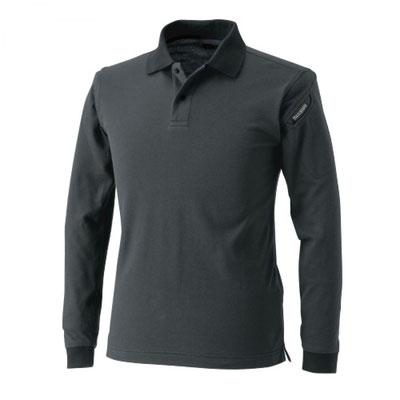 TS DESIGN~TSデザイン~4075 ロングスリーブポロシャツ 25 チャコールグレー