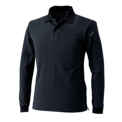 TS DESIGN~TSデザイン~4075 ロングスリーブポロシャツ 95 ブラック
