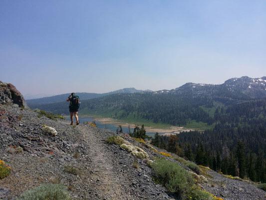Abstieg zu den Lost Lakes