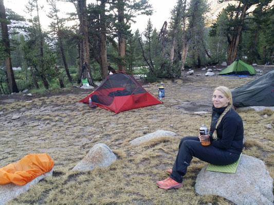 Camp vorm Forester Pass