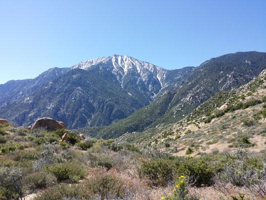 Blick zurück auf die Fuller Ridge in der Ferne