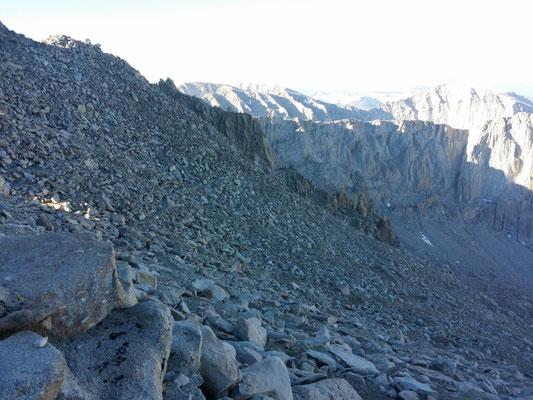 Abstieg von Mt. Whitney