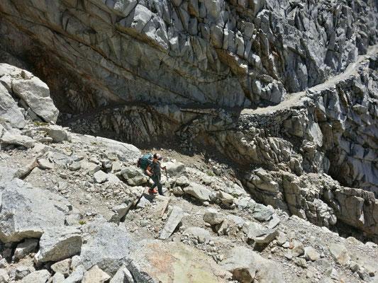 ...und Abstieg vom Forester Pass