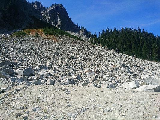 Abstieg zum Glacier Lake