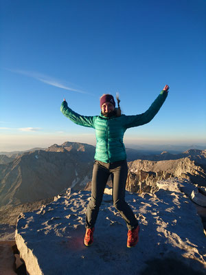 On top of Mt. Whitney