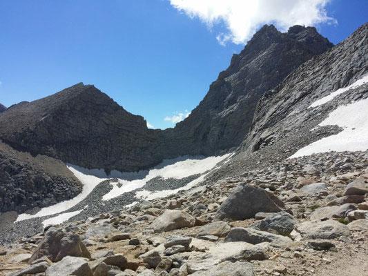 Aufstieg zum Forester Pass