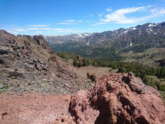 Blick nach Süden vom Sonora Pass