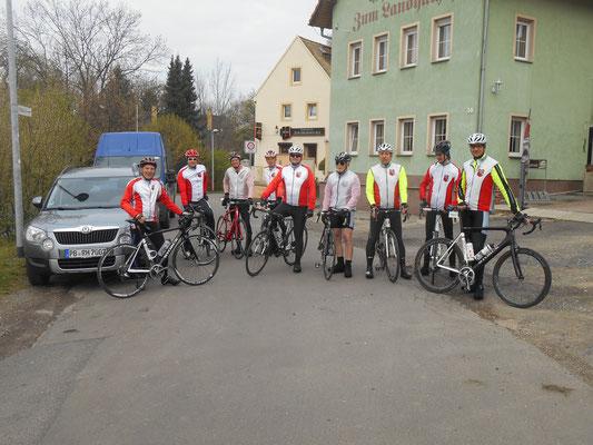 Abfahrt zur RTF nach Zwenkau