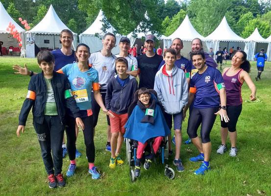 Les coureurs des 15 km