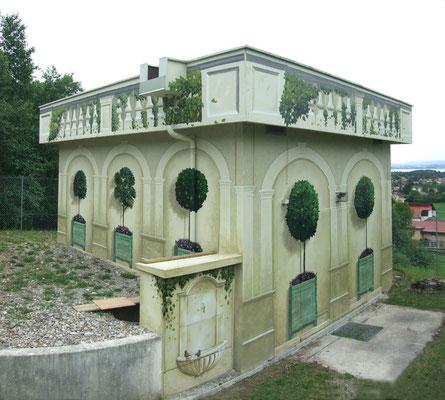 """Trompe l'oeil """"Orangerie""""- bâtiment technique- Savoie"""