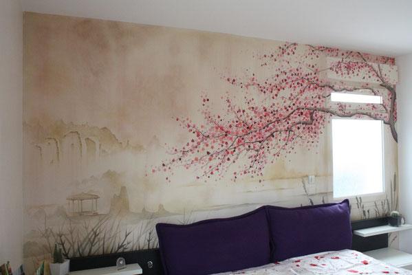 Décor mural d'inspiration asiatique