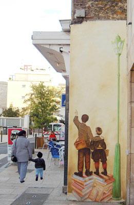 Décor peint sur façade-Le Perreux sur Marne
