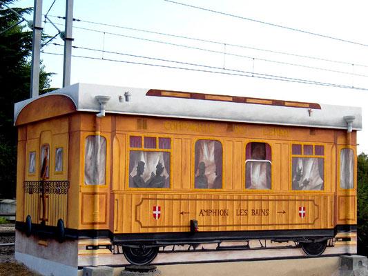 Trompe l'oeil wagon- poste d'aiguillage- Publier(74)