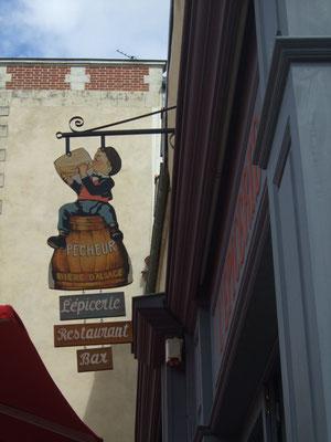 Panneau peint vieille publicité-bistrot à l'ancienne-Rennes