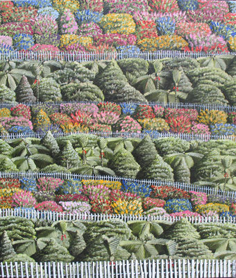 'Bush Gardens',400x350mm,Oil on board SOLD