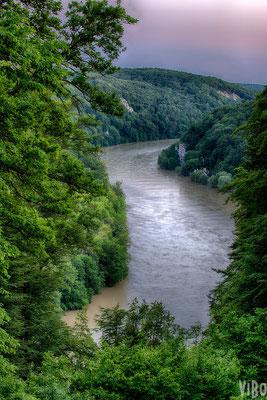 Blick auf die Donau von der Befreiungshalle in Kelheim.