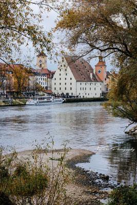Historische Wurstkuchl in Regensburg.