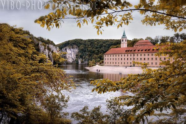 Weltenburger Kloster vom anderen Ufer.