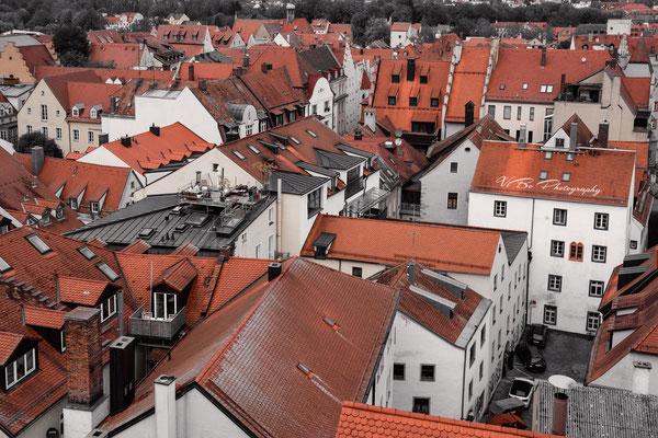 Regensburgs rote Dächer.