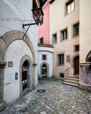 Regensburg hinter dem alten Rathaus