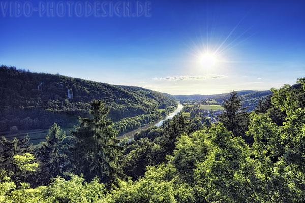 Blick vom Schloss Prunn.