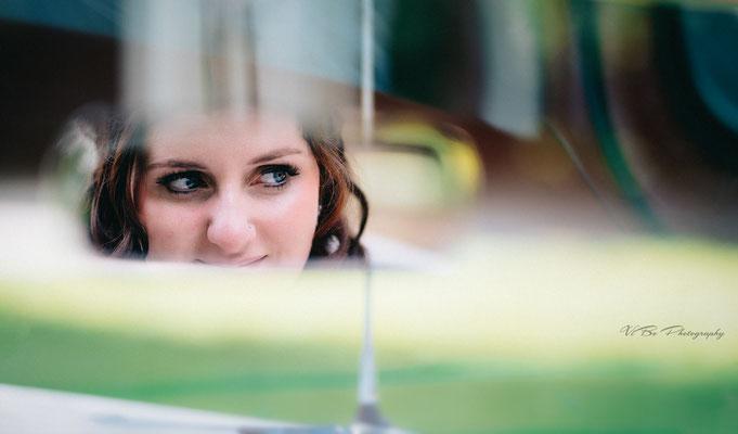 Fotoshooting mit der Braut in Regensburg.