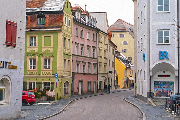 Regensburg Goldene-Bären-Strasse wie gemalt