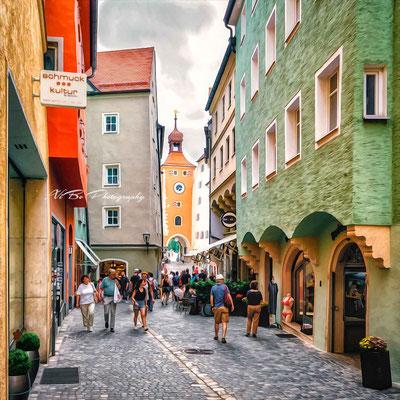 Brückstraße, Regensburg.
