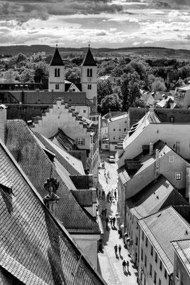 Regensburger Altstadt, Blick von oben.