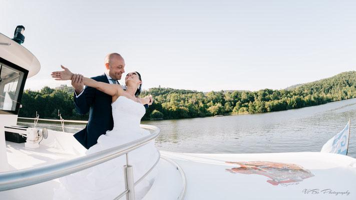 """Hochzeit auf dem Schiff """"Fürstin Gloria""""."""