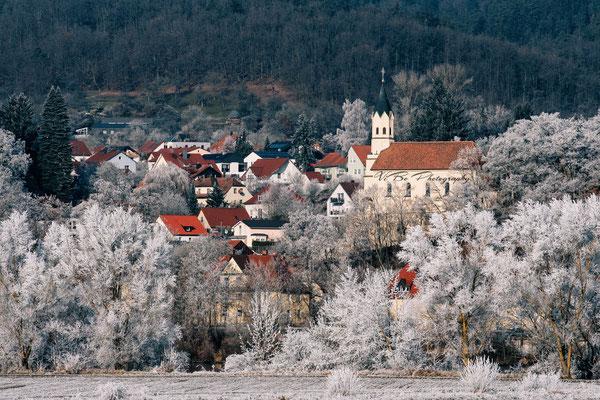 Donaustauf bei Regensburg im Winter.